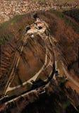 Vista aérea da fortaleza de Cari Mali Grad, Bulgária imagens de stock royalty free