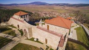 Vista aérea da fortaleza de Cari Mali Grad, Bulgária fotos de stock