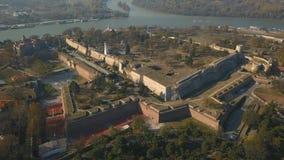 Vista aérea da fortaleza de Kalemegdan filme