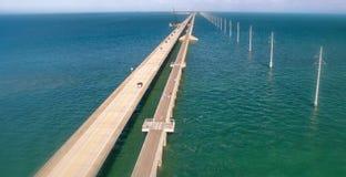Vista aérea da fuga ultramarina da herança, Florida Imagem de Stock