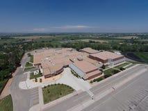 Vista aérea da High School de Niwot Imagem de Stock Royalty Free