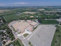 Vista aérea da High School de Niwot Imagem de Stock