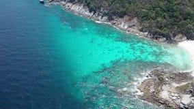 Vista aérea da ilha bonita de Koh Racha Yai, Phuket vídeos de arquivo
