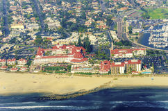Vista aérea da ilha de Coronado, San Diego Foto de Stock Royalty Free