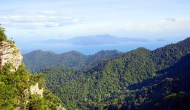 Vista aérea da ilha de Langkawi Fotografia de Stock
