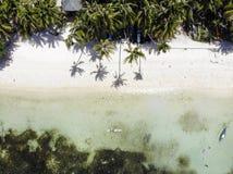Vista aérea da ilha de Siquijor, as Filipinas foto de stock