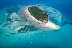 Vista aérea da ilha da prisão, Zanzibar fotografia de stock royalty free
