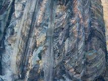 Vista aérea da mina de carvão Belchatow do aberto-molde foto de stock