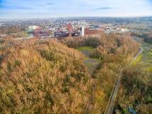 Vista aérea da mina de carvão Zollverein da herança Fotografia de Stock