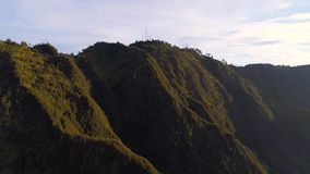 Vista aérea da montagem Bromo, East Java, Indonésia filme