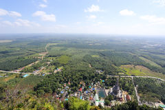 Vista aérea da montanha Imagens de Stock