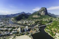 Vista aérea da montanha do Pedra a Dinamarca Gavea de Rio de janeiro imagens de stock