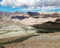 Vista aérea da montanha seca imagem de stock royalty free