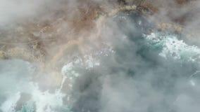 Vista aérea da névoa e da costa de Califórnia do norte video estoque