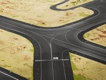 Vista aérea da pista de decolagem do aeroporto Imagens de Stock Royalty Free