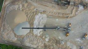 Vista aérea da planta de tratamento por lotes concreta Camden New Jersey Waterfront vídeos de arquivo