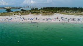 Vista aérea da praia foto de stock