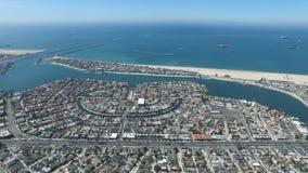 Vista aérea da praia das mães fotografia de stock royalty free