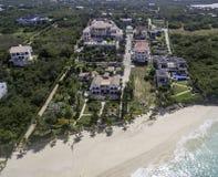 Vista aérea da praia de Anguila Fotos de Stock