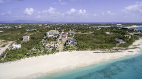 Vista aérea da praia de Anguila Imagem de Stock