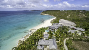 Vista aérea da praia de Anguila Foto de Stock