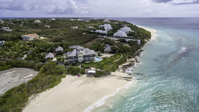 Vista aérea da praia de Anguila Foto de Stock Royalty Free