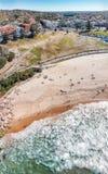 Vista aérea da praia de Bondi, Austrália fotos de stock