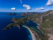 Vista aérea da praia de Oludeniz, Fethiye Fotos de Stock