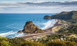 Vista aérea da praia de Piha Fotografia de Stock