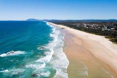 Vista aérea da praia do farol, porto Macquarie Imagem de Stock Royalty Free