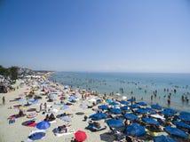 Vista aérea da praia em Katerini, Grécia Imagens de Stock Royalty Free