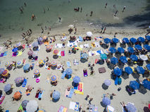 Vista aérea da praia em Katerini, Grécia Foto de Stock
