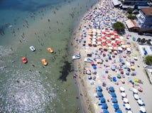 Vista aérea da praia em Katerini, Grécia Imagem de Stock Royalty Free