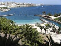 Vista aérea da praia no canário Fotos de Stock