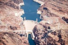 Vista aérea da represa de Hoover Foto de Stock Royalty Free