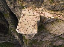 Vista aérea da rocha do púlpito imagens de stock