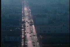 Vista aérea da rua de San Francisco video estoque