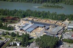 Vista aérea da serração fotografia de stock royalty free