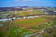 Vista aérea da terra Amish em Pensilvânia fotografia de stock royalty free