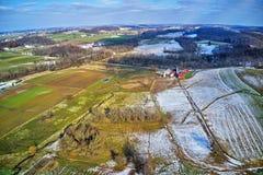 Vista aérea da terra Amish em Pensilvânia fotos de stock royalty free