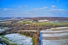 Vista aérea da terra Amish em Pensilvânia imagem de stock royalty free