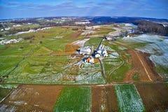 Vista aérea da terra Amish em Pensilvânia imagens de stock royalty free