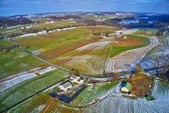 Vista aérea da terra Amish em Pensilvânia foto de stock
