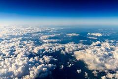 Vista aérea da terra do planeta como visto de 40 000 pés Fotografia de Stock