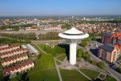 Vista aérea da torre de água Svampen Imagens de Stock