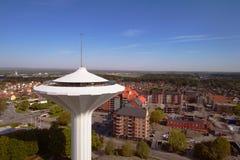 Vista aérea da torre de água Svampen Imagem de Stock Royalty Free