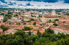 Vista aérea da torre de Gediminas Imagens de Stock