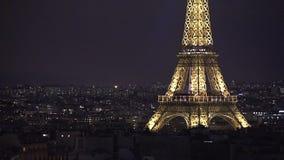 Vista aérea da torre Eiffel vídeos de arquivo
