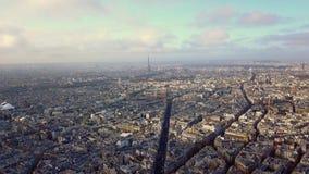 Vista aérea da torre Eiffel em Paris video estoque
