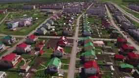 Vista aérea da vila ou da cidade filme